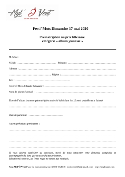 Préinscription concours 2020_Festi'Mots