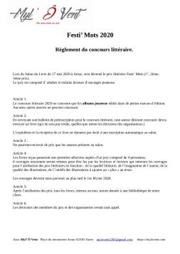 Règlement concours 2020_Festi_Mots